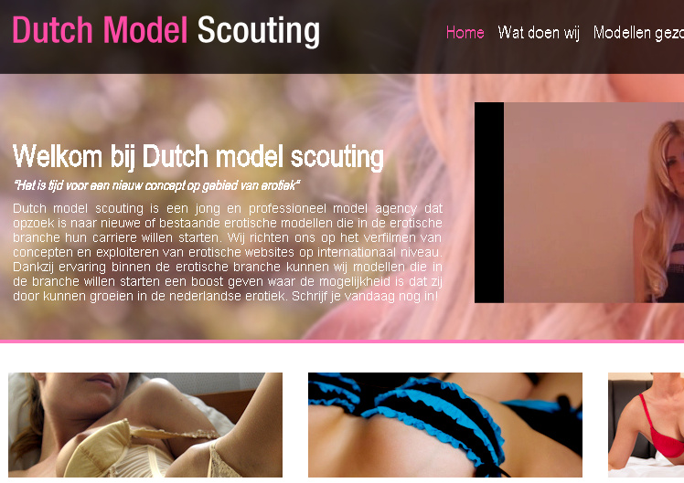 Dutch model scouting - pornomodel worden